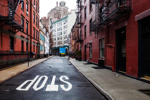 Gay Street in Greenwich Village - Manhattan, New York stock photo