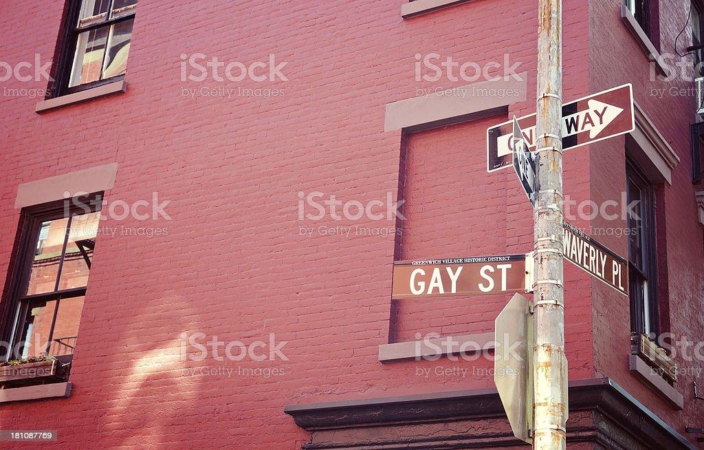 Gay Street royalty-free stock photo