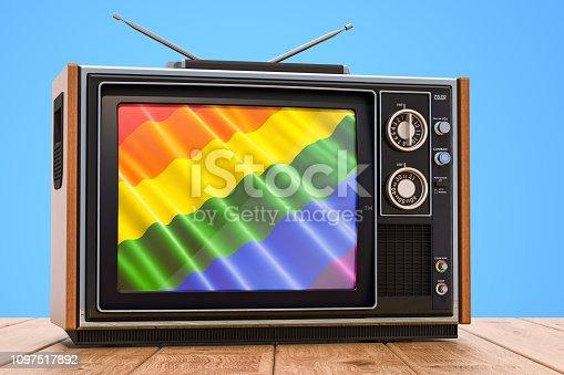 Gay tv concept, 3D rendering