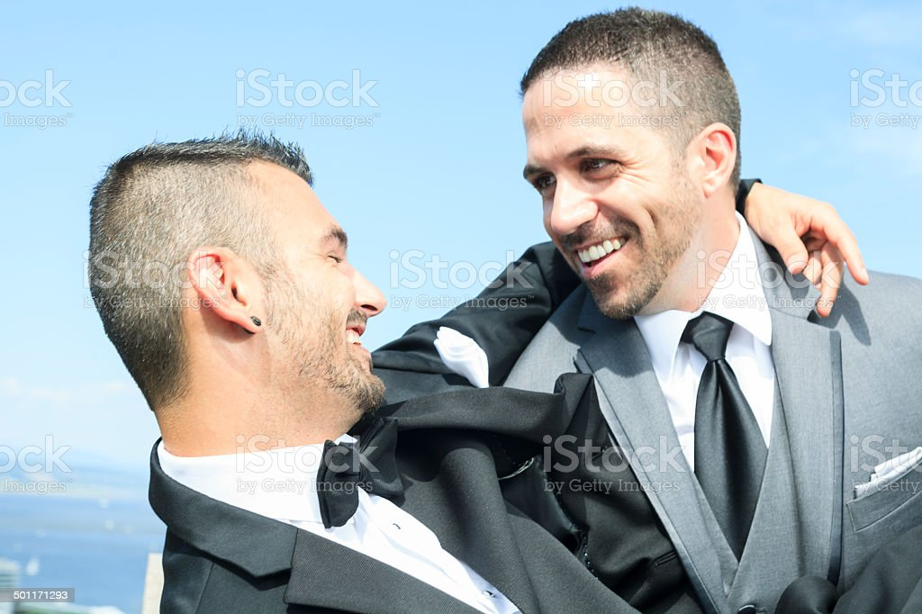 Gay Wedding - Great Moment stock photo