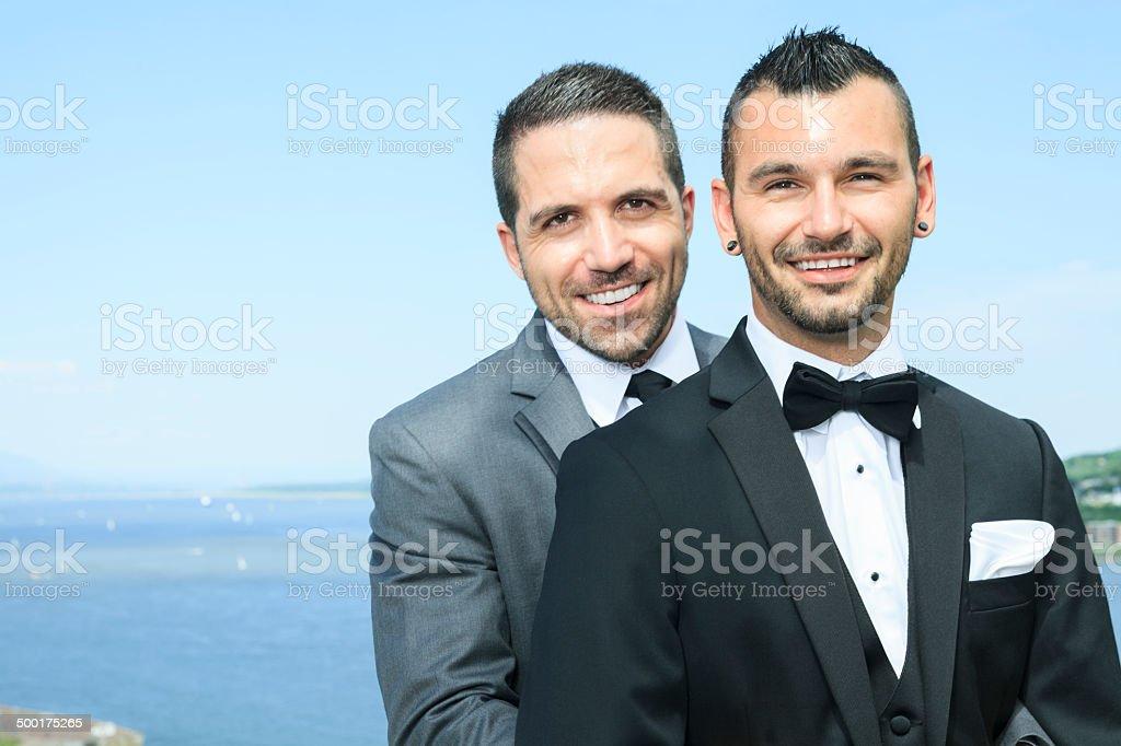Gay Wedding - Landscape royalty-free stock photo