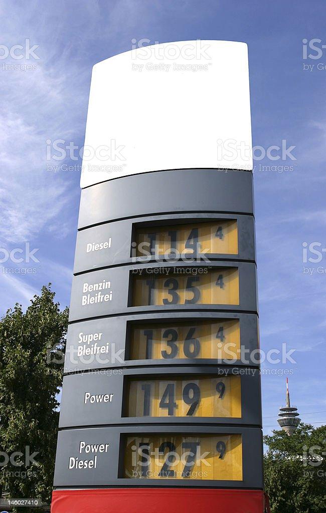 gaz price display royalty-free stock photo