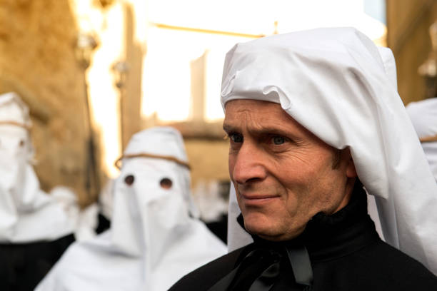 Blick des Mannes partecipant Karfreitag Prozession – Foto