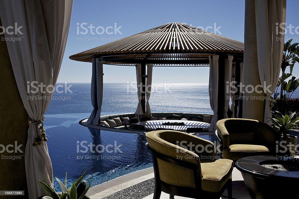 Gazebo at Luxury Resort royalty-free stock photo