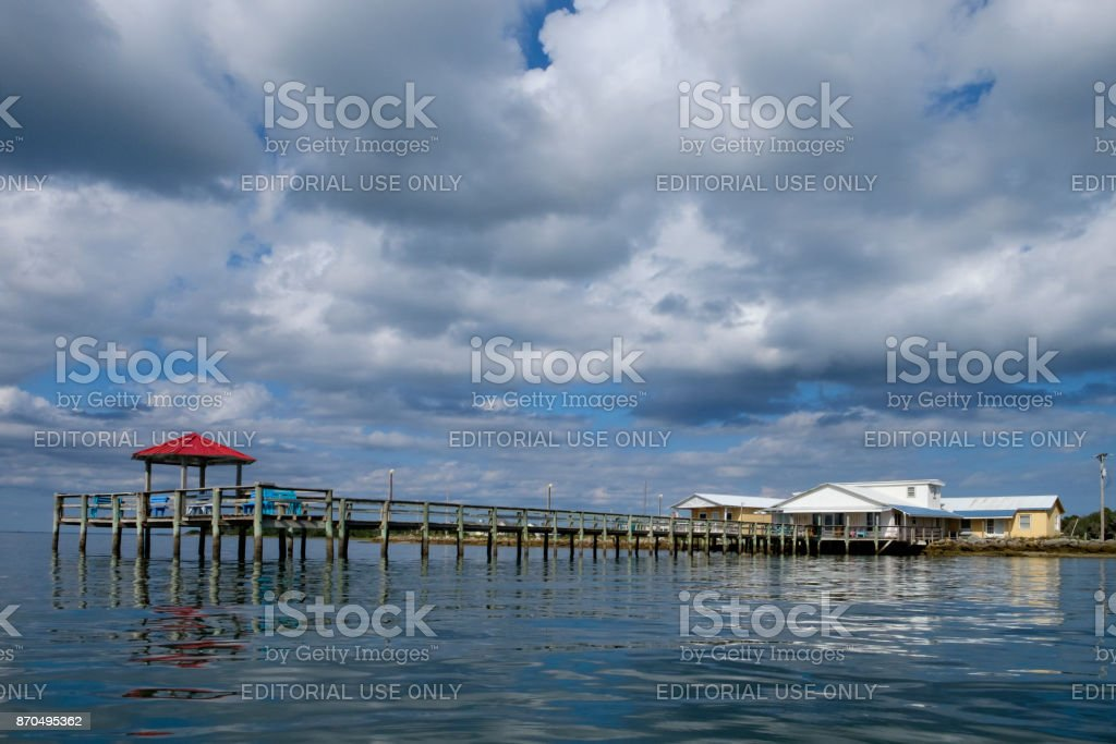 Gazebo, Harkers Island, NC stock photo