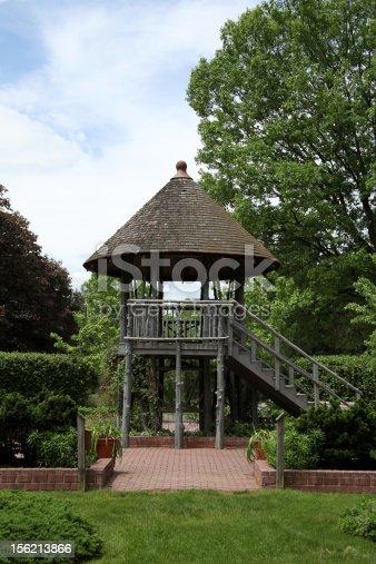 Gazebo located in Hunterdon County Arboretum, a public community park in Lebanon, New Jersey, USA