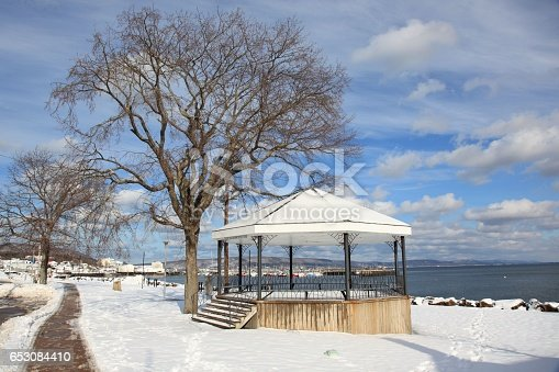 Gazebo in Digby Nova Scotia, Canada. This gazebo is in a small public park next to highway for public use.