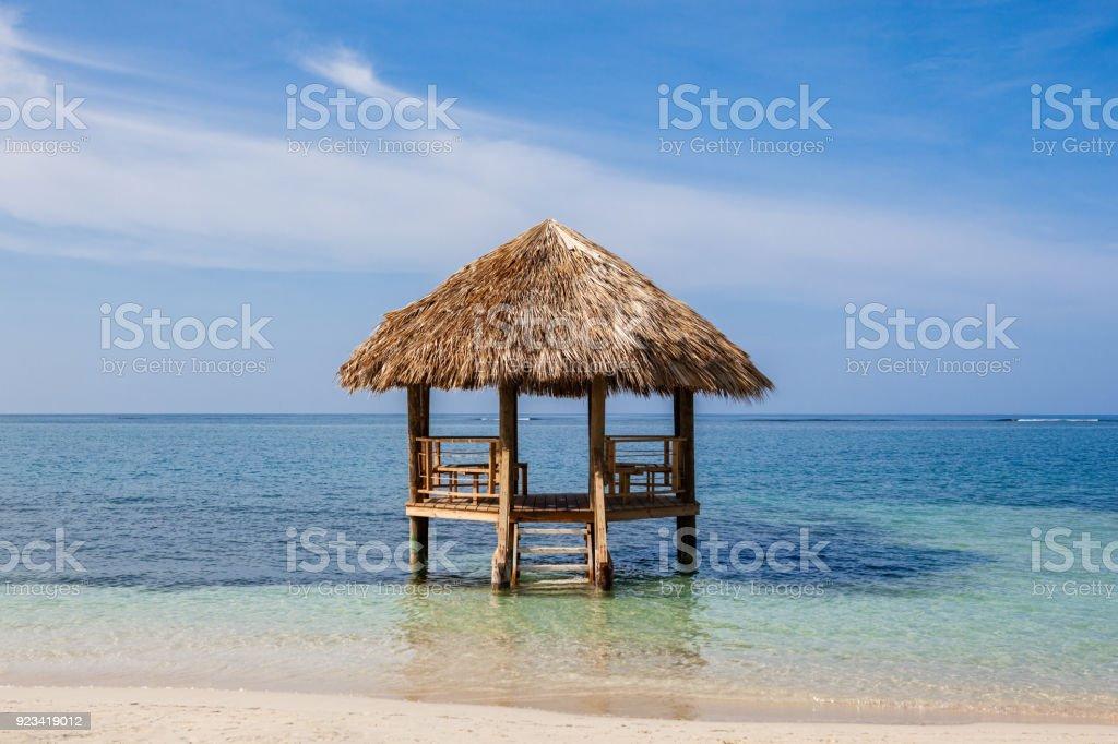 Gazebo in Jamaica stock photo