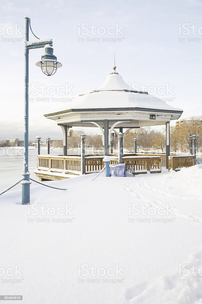 Gazebo in Winter royalty-free stock photo