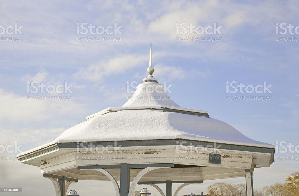 Gazebo Roof in winter royalty-free stock photo