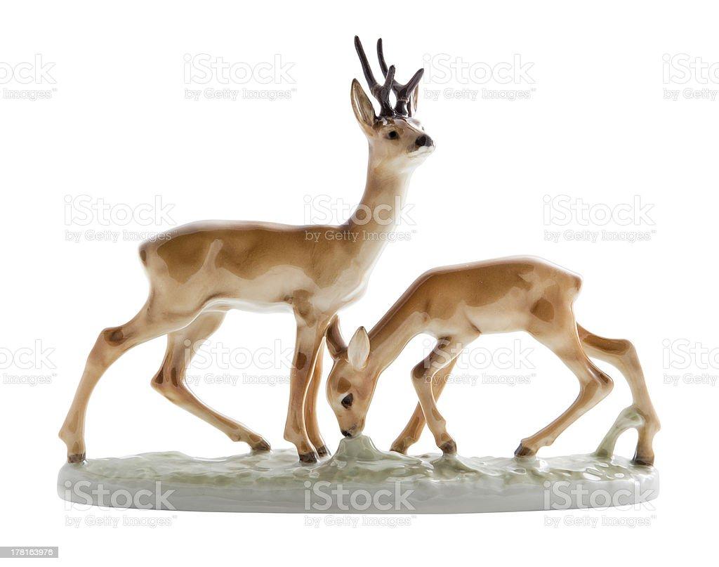 Gazelle Bibelot on white royalty-free stock photo