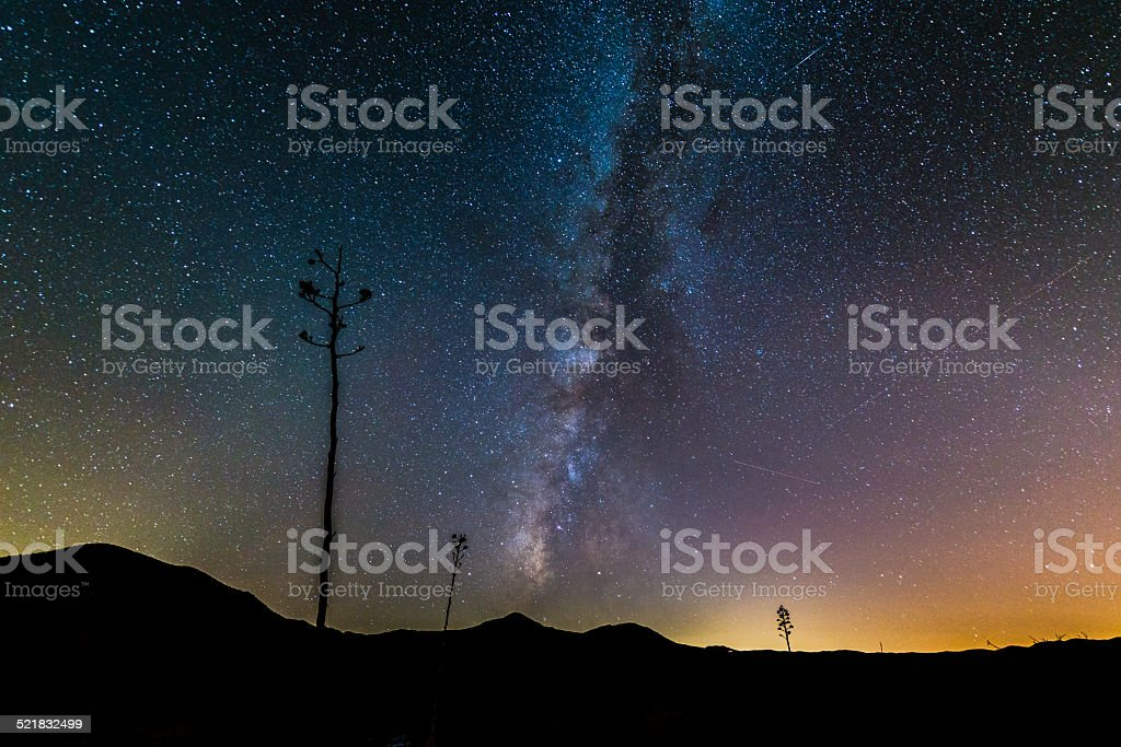 Gazing at the Galactic Core of the Milky Way stock photo