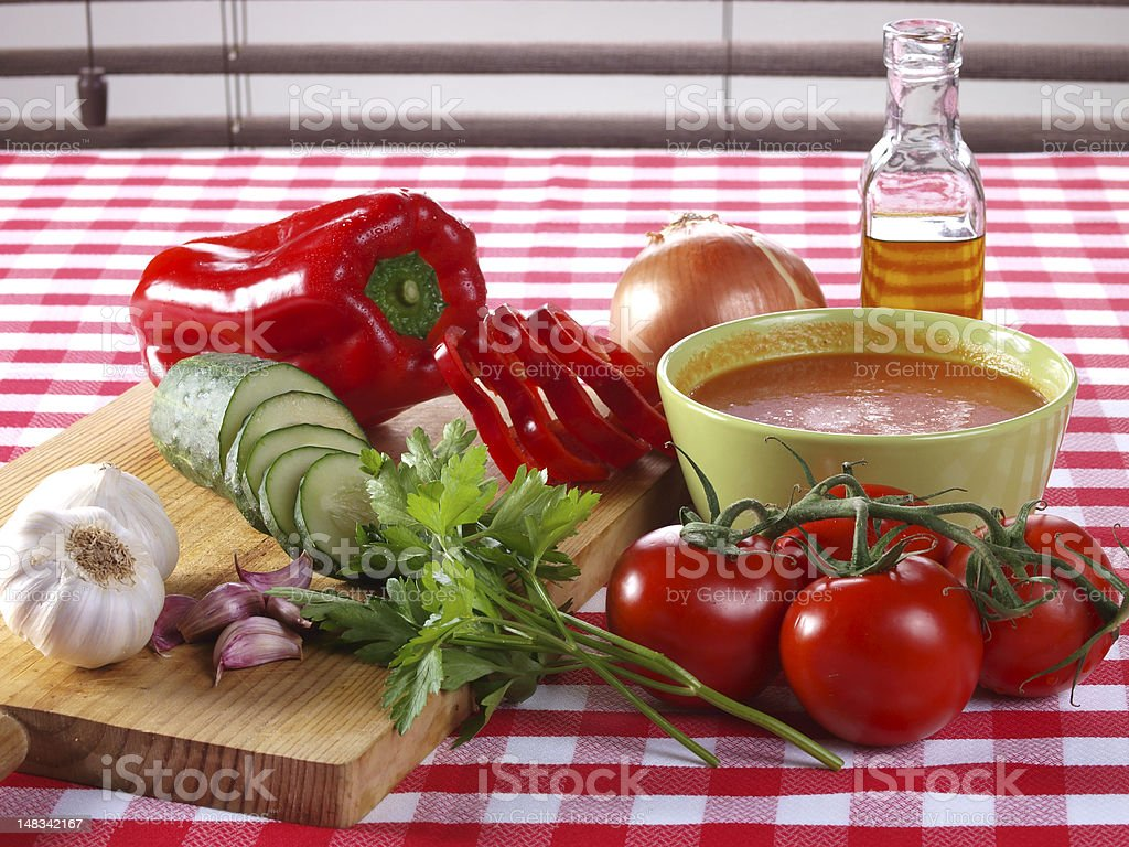 Gazpacho Andaluz royalty-free stock photo