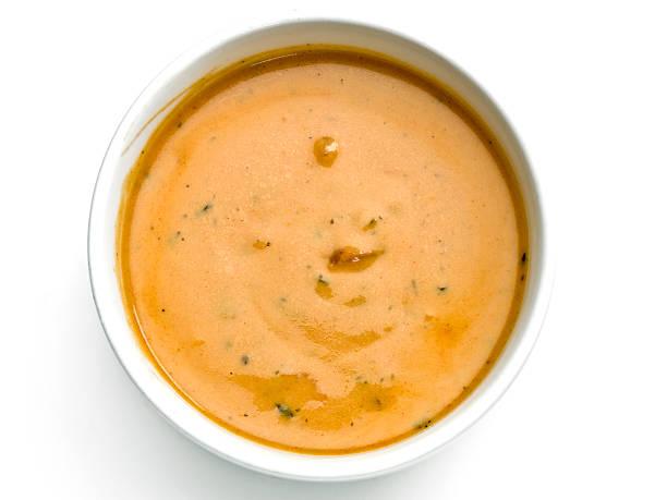 gazpacho von oben - hausgemachte tomatensuppen stock-fotos und bilder