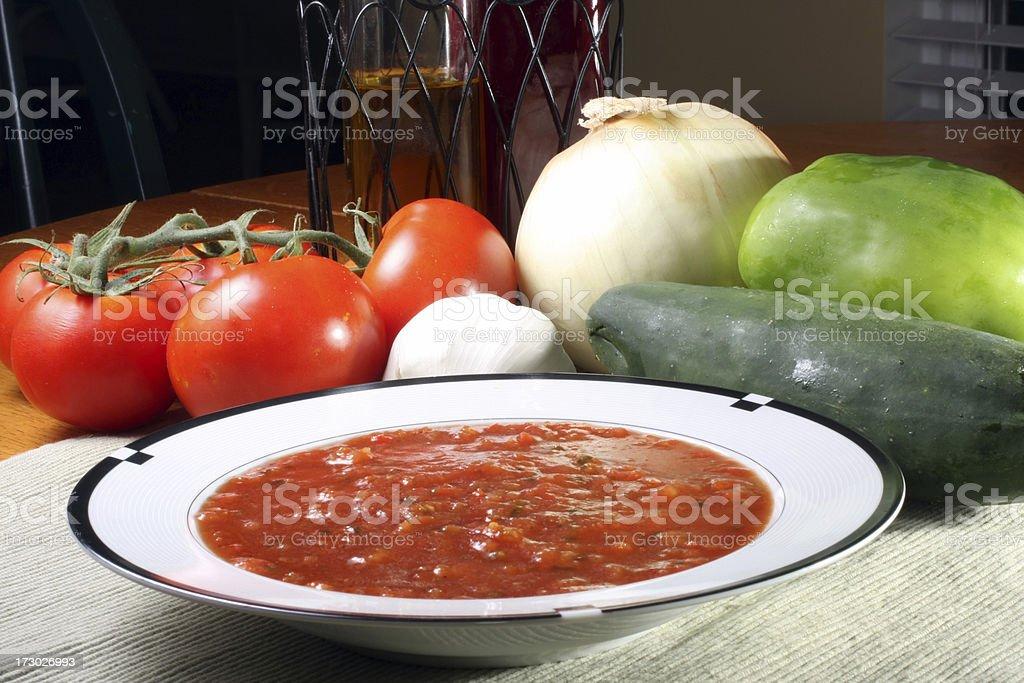 gazpacho tomato soup royalty-free stock photo