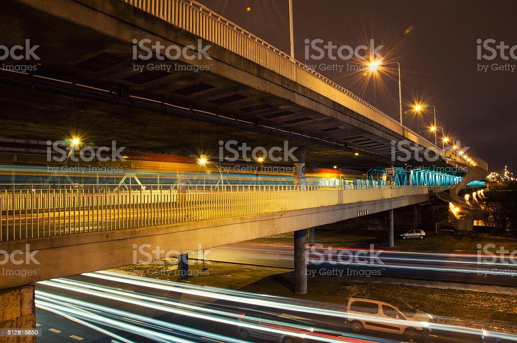 Gdansk bridge stock photo