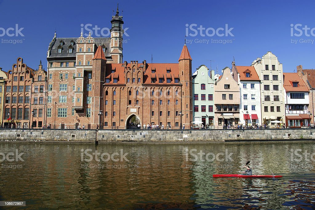 Gdansk, Danzig, Poland  shoreline from the 13th century royalty-free stock photo