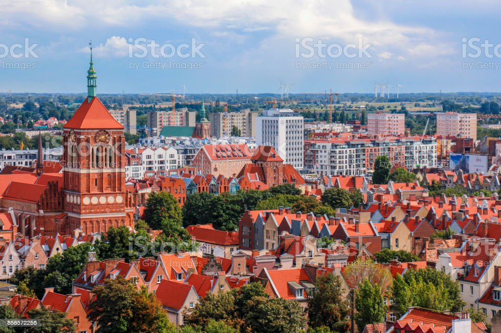 Gdansk from above stock photo