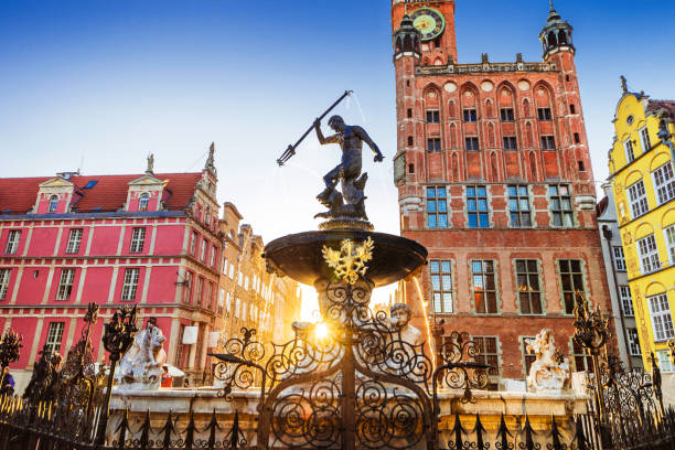 Gdansk old town, Poland stock photo