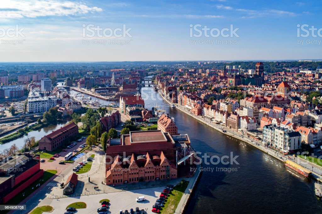 Gdansk, Poland. Aerial skyline royalty-free stock photo