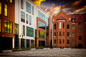 gdansk tenement houses - modernity and tradition, Poland