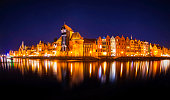 istock Gdańsk Old Town by night (HDRi) 1275505114