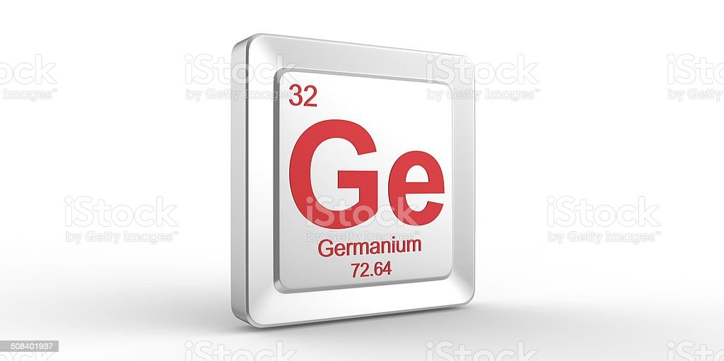 Ge Symbol 32 Material For Germanium Chemical Element Stock Photo