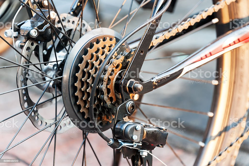 Gear Bicycle in soft light stock photo