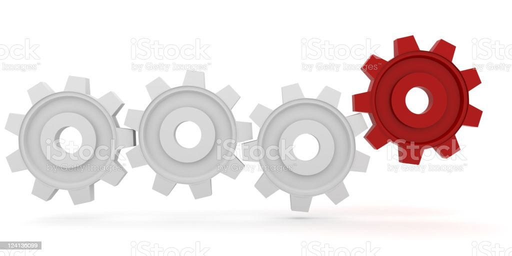 Gear Connection royalty-free stock photo