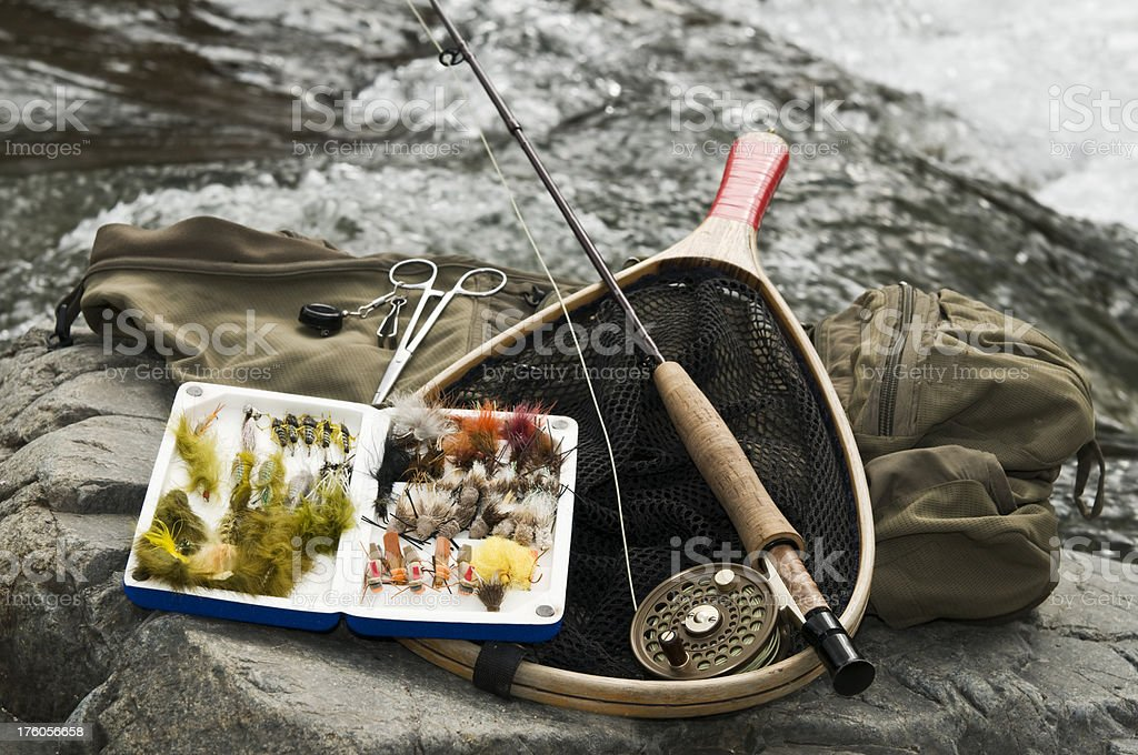Gear for Fly Fishing royalty-free stock photo
