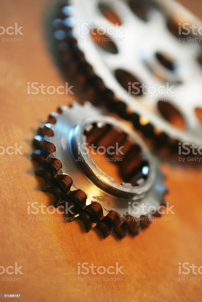 Gear Lit royalty-free stock photo