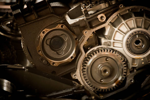 Gear motor in the engine cars abstract background Gear motor in the engine cars abstract background vehicle clutch stock pictures, royalty-free photos & images