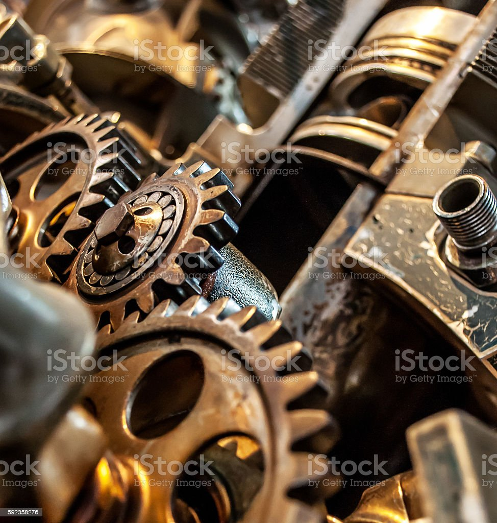 Gear of an engine stock photo