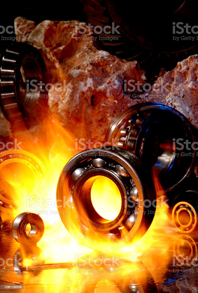 Gear Parts in Kiln stock photo