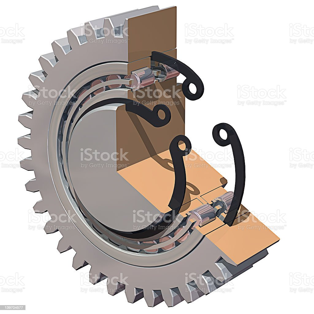 Gear Section royalty-free stock photo