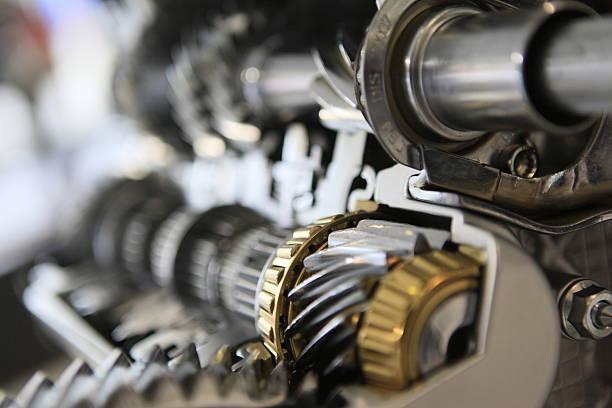 gear set - industriële apparatuur stockfoto's en -beelden