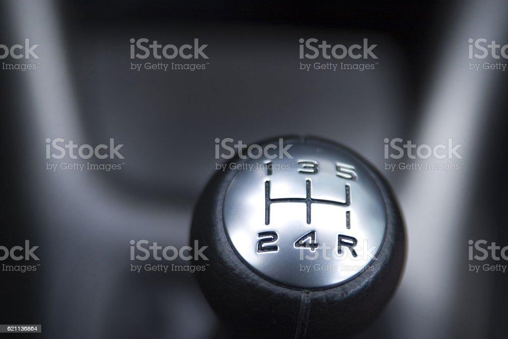 Gear shifter stock photo