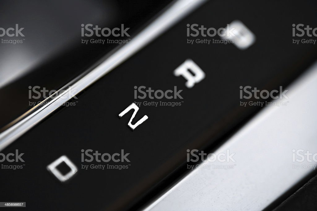 Gear shifter positions stock photo