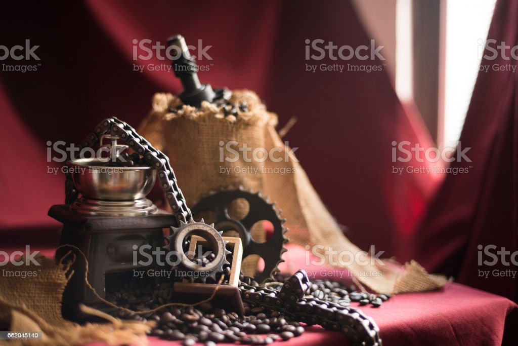 Gear, sprockets, chain for car engine royalty-free stock photo