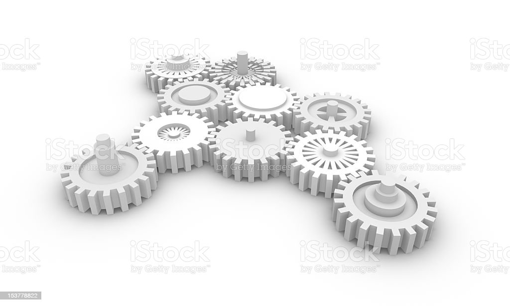 Gear system. stock photo