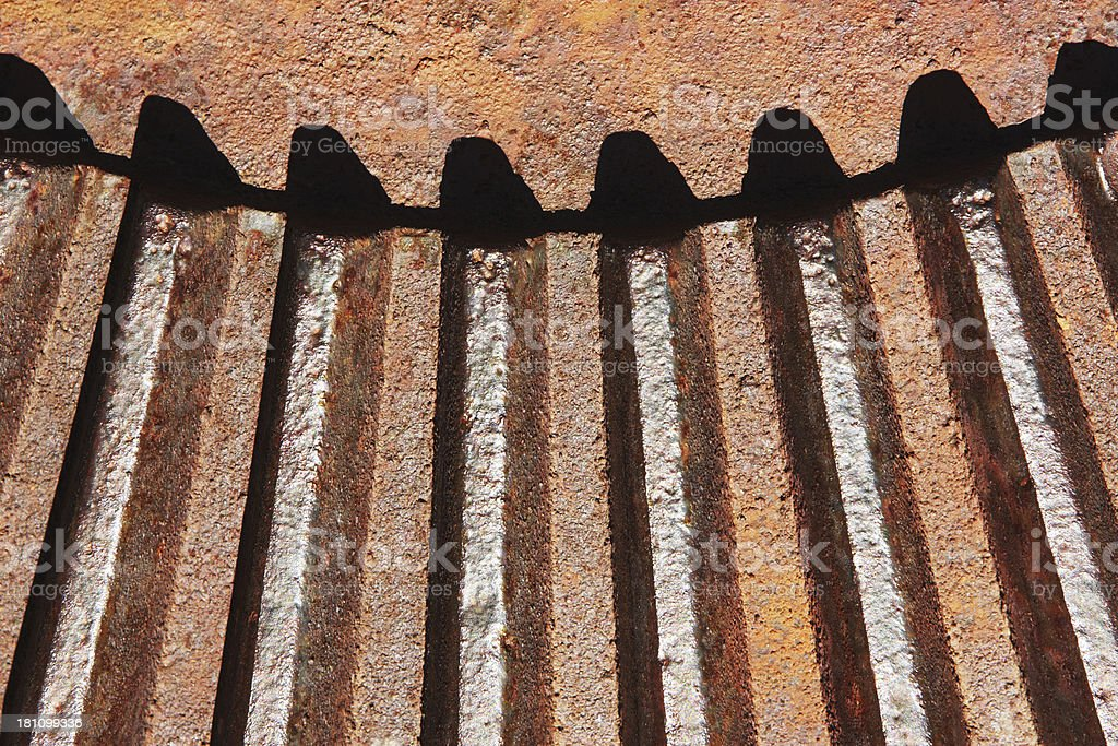 Gear Teeth Rusted Machine Engine stock photo