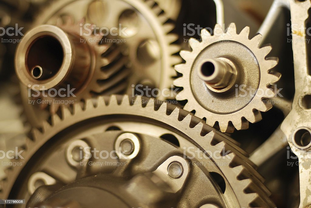 Gear transmission stock photo