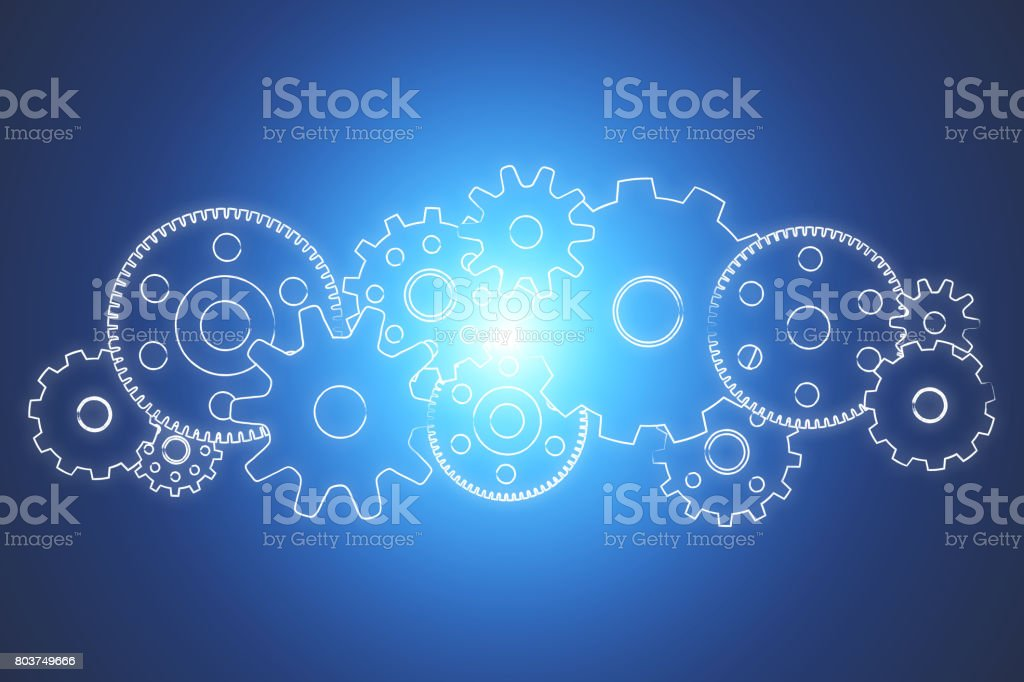 Gear wheel concept isolated on background - Technology concept stock photo