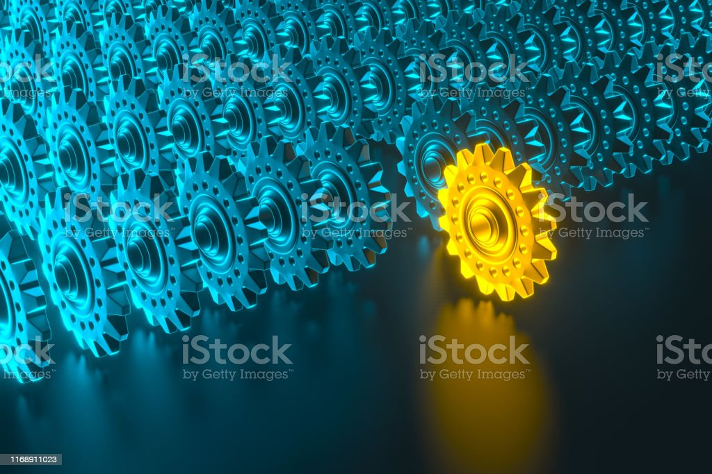 Gear wheels infographic for cooperation or teamwork symbolism with...