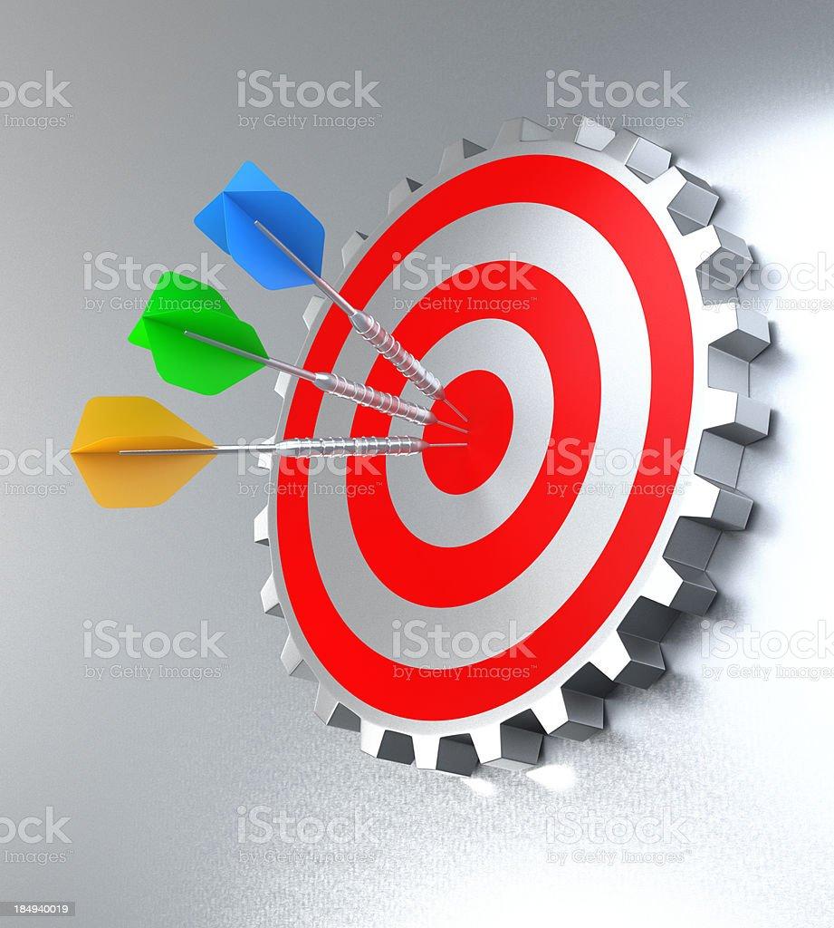 Gear Wheels Target royalty-free stock photo