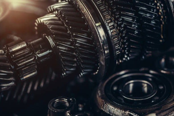 Gearbox metal wheels close-up Gearbox metal wheels close-up gearshift stock pictures, royalty-free photos & images