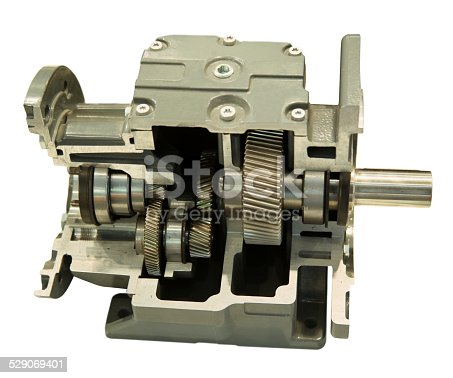 Gearbox model isolated on white background.