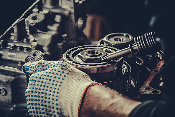 CVT gearbox repair closeup Continuously variable transmission gearbox repair closeup. Stock Photo. ball bearing stock pictures, royalty-free photos & images