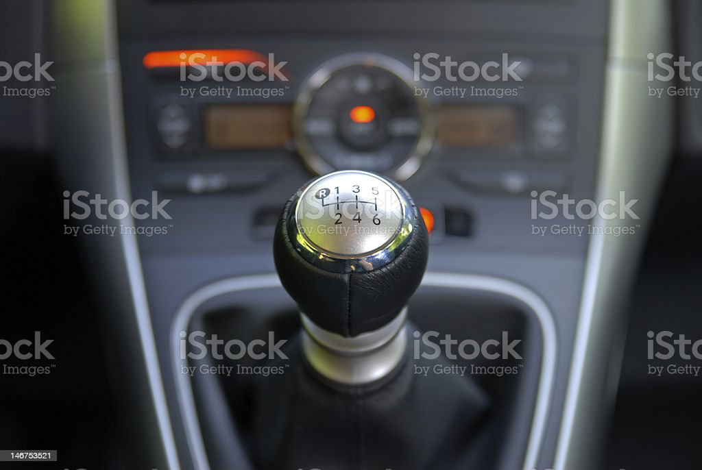 gearbox shifter royalty-free stock photo