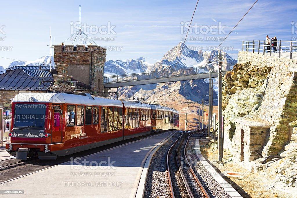 Geared railway mountain train royalty-free stock photo
